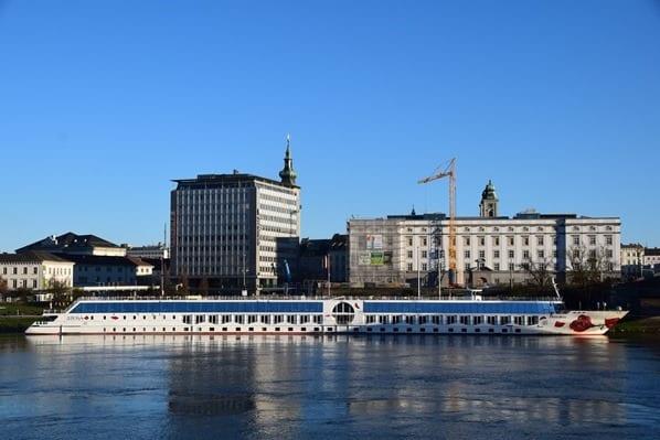 a-rosa bella Donau Anleger Linz Österreich arosa Flusskreuzfahrt