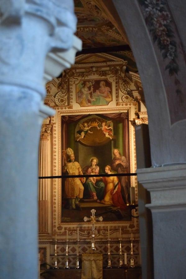 Santa Caterina del Sasso Eremitenkloster Altar Lago Maggiore Langensee Lombardei Italien