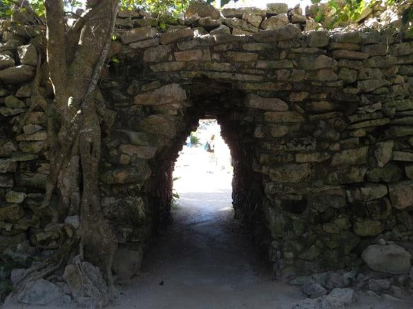 Tulum Mexiko Maya Tempel Karibik Tor Steinmauer Yucatan