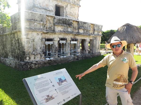 Tulum Mexiko Maya Ruine Freskentempel Tourguide Yucatan Karibik