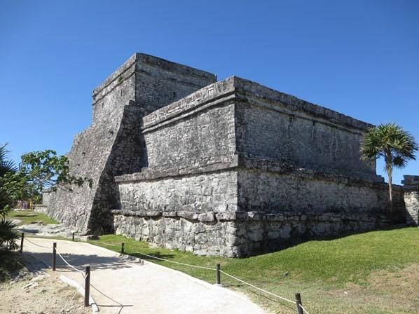 Tulum Mexiko Maya Stätte Schloss El Castillo Yucatan Karibik