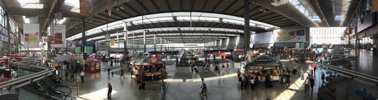 Hauptbahnhof München Schalterhalle Panorama