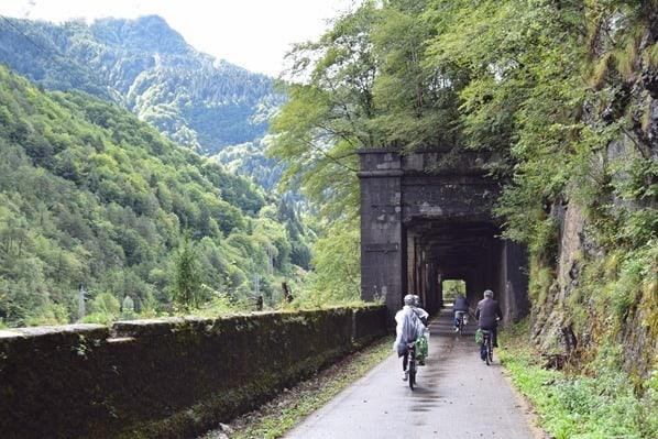 Ciclovia Alpe Adria Radweg Bahntrasse Galeria Friaul Julisch-Venetien Italien