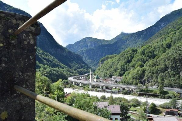Ciclovia Alpe Adria Radweg Autobahn Dogna Friaul Julisch-Venetien Italien