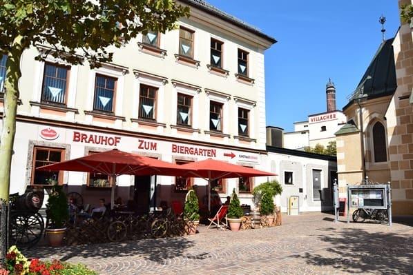 Drauradweg Einkehr Gasthaus Villacher Brauhof Villach Kärnten Österreich