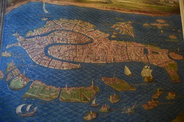 Vatikan Vatikanische Museen Rom historische Karte von Venedig Galleria delle carte geografiche