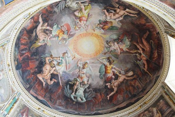 Vatikan Vatikanische Museen Rom Engels Fresko Italien