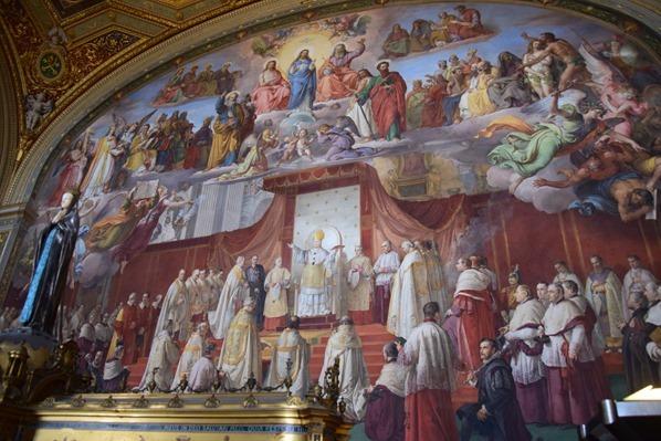 Vatikan Vatikanische Museen Rom Wandgemälde in den Stanzen des Raffael Italien