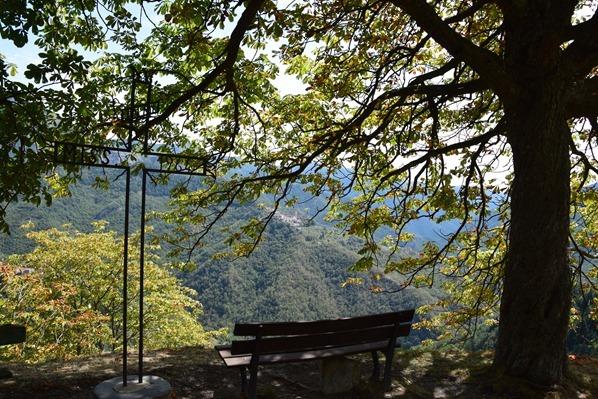 Triora Rastplatz Aussicht Ligurien Italien