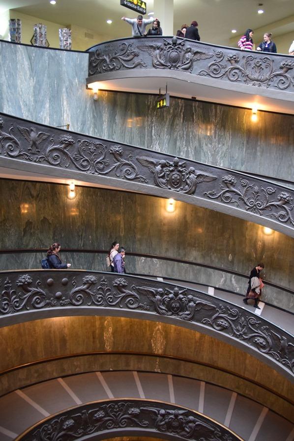 Vatikan Vatikanische Museen Rom Doppelläufige Spiraltreppe Ausgang Italien