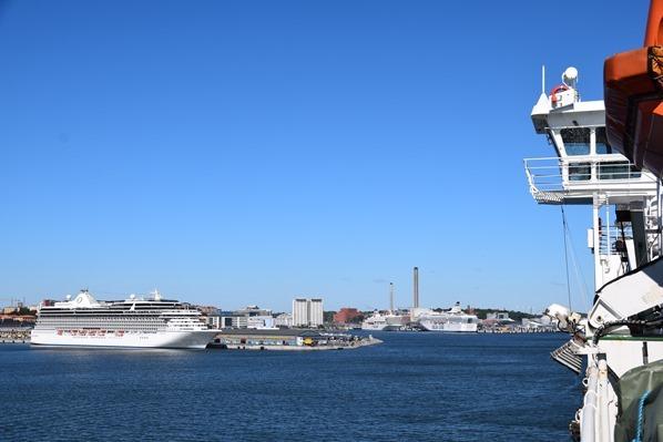 Fähre Stockholm Hafen Ankunft Tallink Silja Isabelle Ostsee Mini Kreuzfahrt Schweden