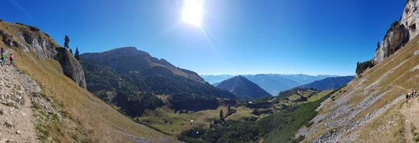 Rofan Achensee wandern Alpenpanorama Wanderweg Gschöllkopf Tirol Österreich