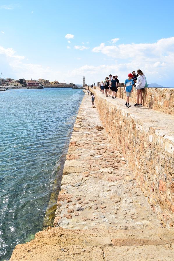 Hafenmauer Alter Venezianischer Hafen Chania Kreta Griechenland
