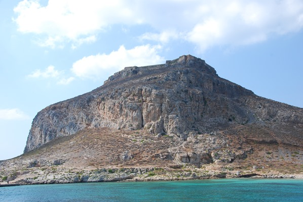 Insel Gramvousa mit Festungsruine Kreta Chania Griechenland
