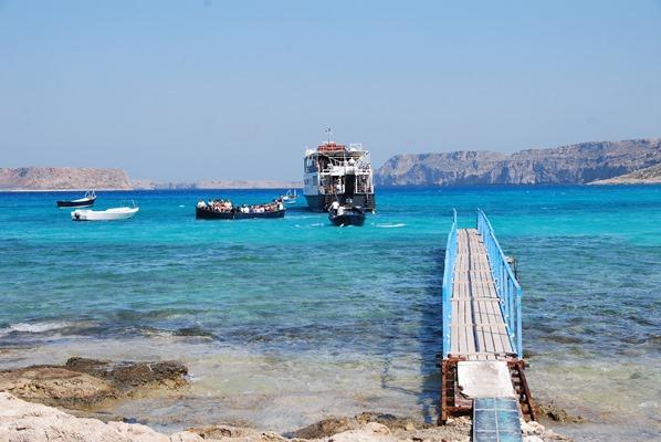 Anleger Insel Gramvousa Kreta Chania Griechenland