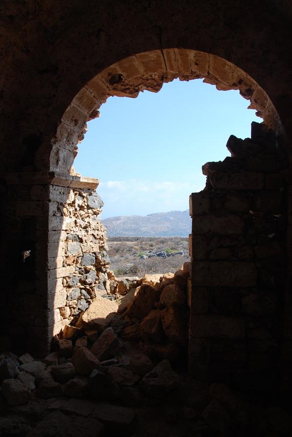 Insel Gramvousa Festung Ruine Kreta Chania Griechenland