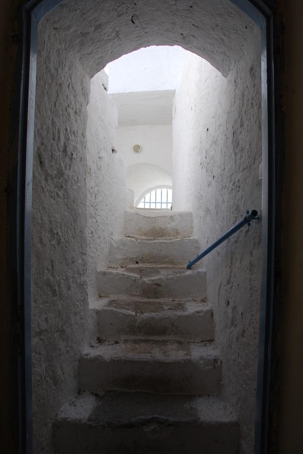 Kloster von Chrisoskalitissa Treppe Kreta Chania Griechenland