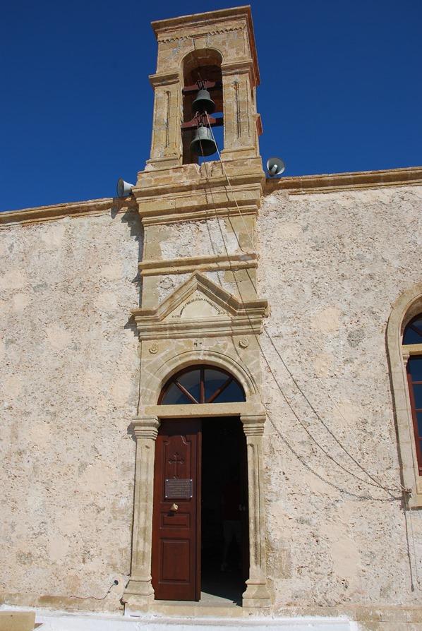 Kloster von Chrisoskalitissa Glockenturm Kreta Chania Griechenland
