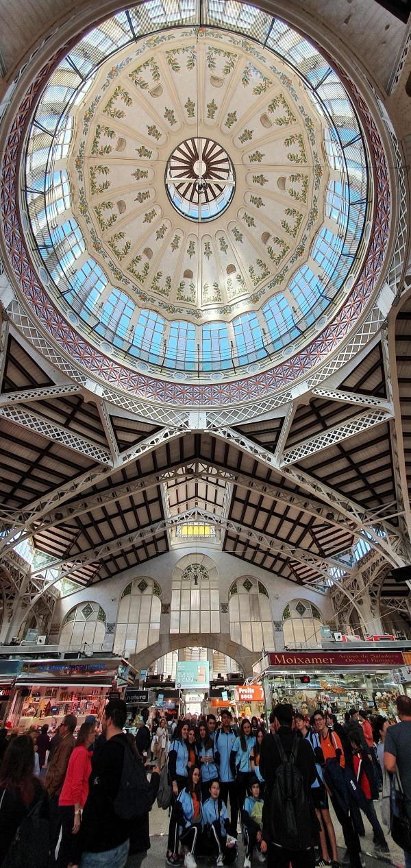 decke markthalle mercat central valencia spanien aida familien kreuzfahrt