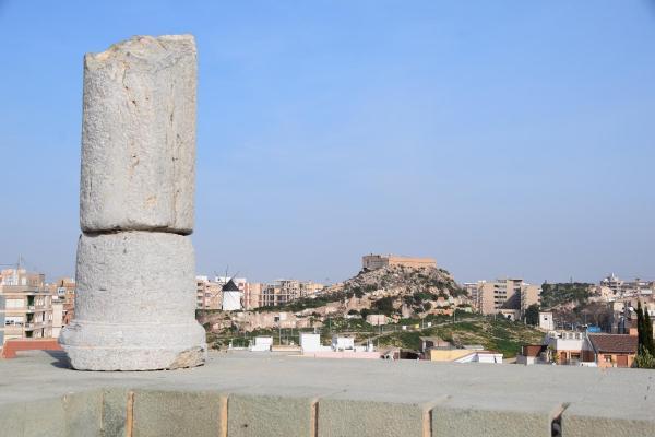 blick von molinete zur molino am monte sacro cartagena murcia spanien aida familien kreuzfahrt