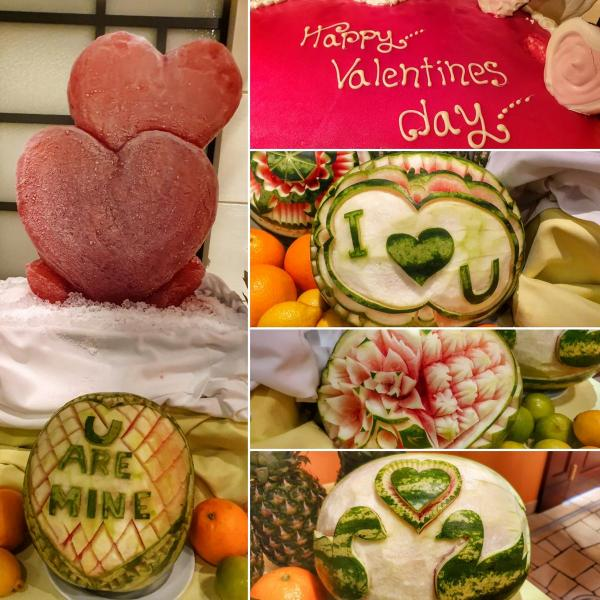 kreuzfahrtschiff aidamar valentinstag dekoration torte aida familien kreuzfahrt