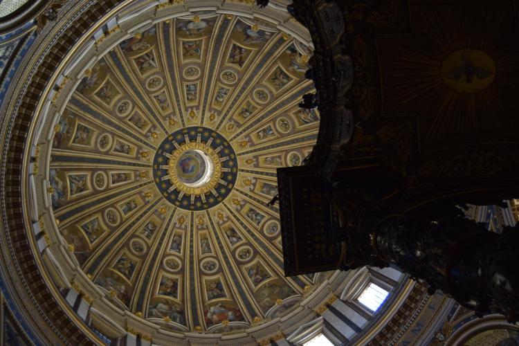 kuppel petersdom morgens vatikan rom italien
