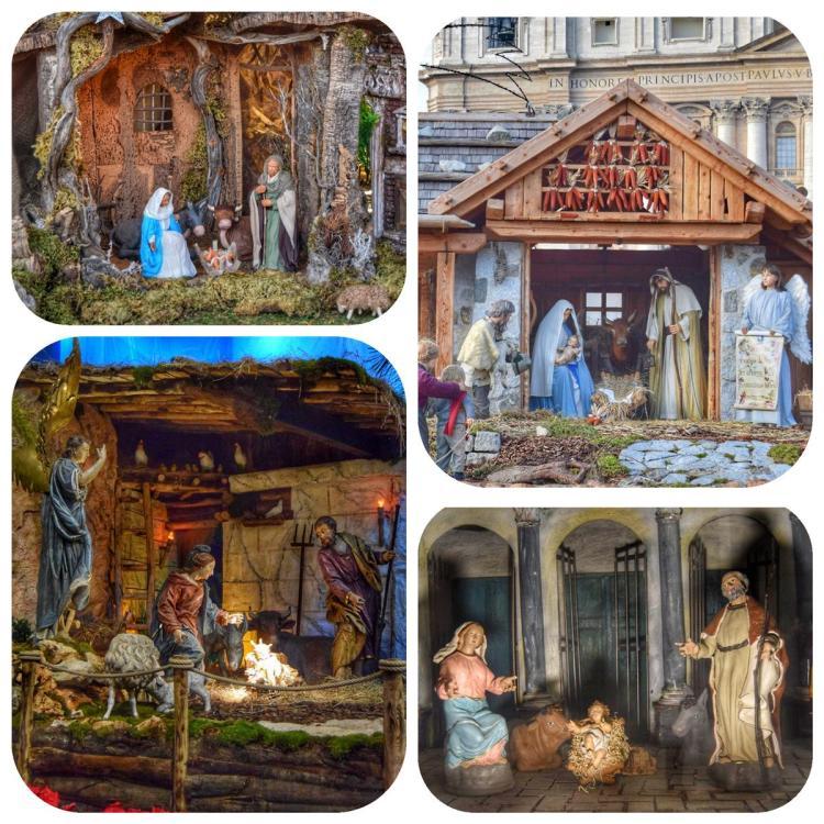 spaziergang krippen weihnachten rom italien
