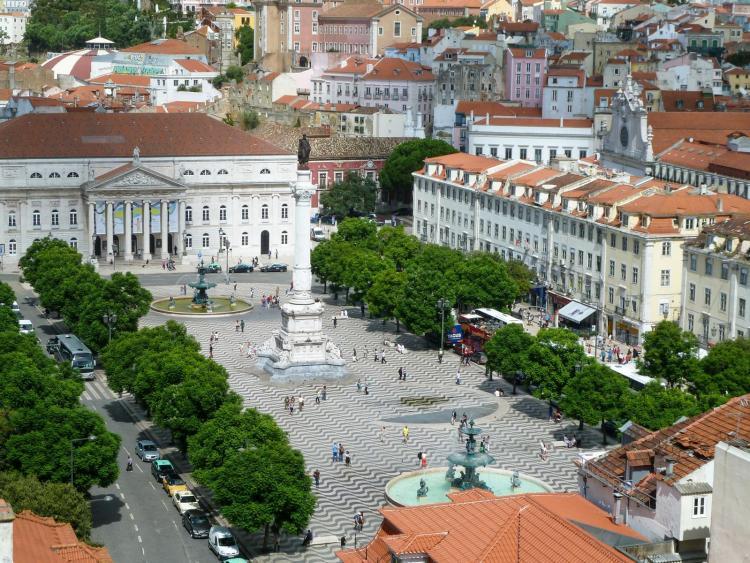 Städtetrip Lissabon Sehenswürdigkeiten Praça do Rossio Praça dom Pedro IV Portugal