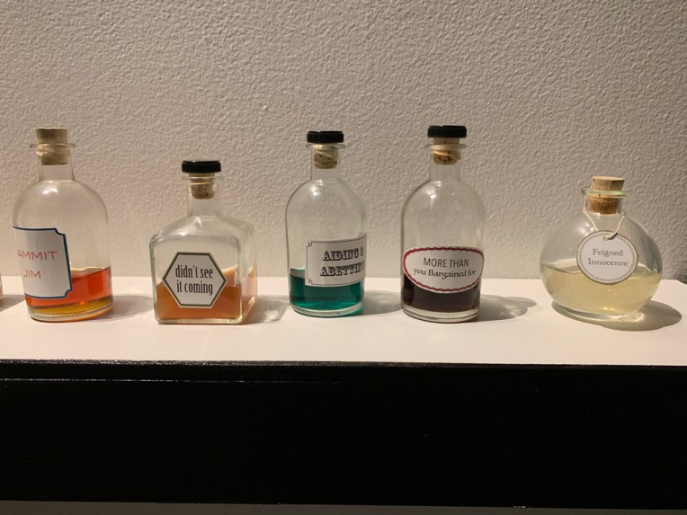 "Detail view of ""Common Scents"" installed at the Plains Art Museum"