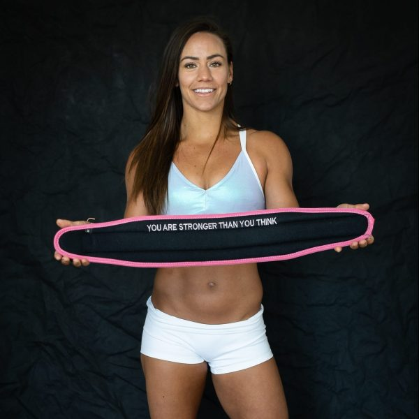 Feroce Pink weightlifting belt (you are stronger than you think)