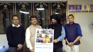 Photo of रेल प्रबंधक श्री राजेश अग्रवाल के द्वारा रेलवे हेरिटेज कैलेंडर का विमोचन किया