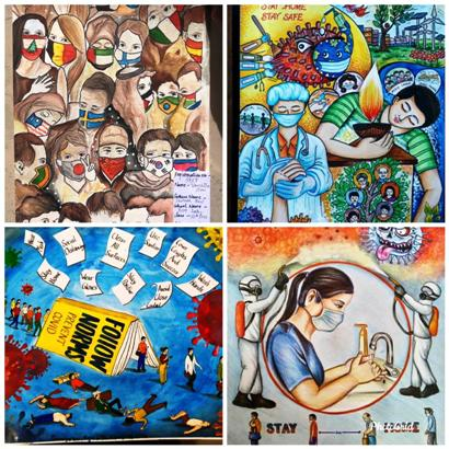 Covid warrior hailed through 3rd Online Paintings Competition by Mayank Foundation