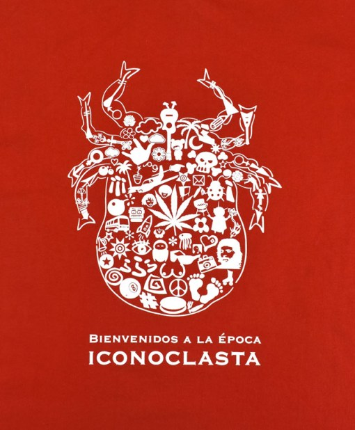 Camiseta-Hombre-Los-Delinquentes-Bienvenidos-Rojo-detalle