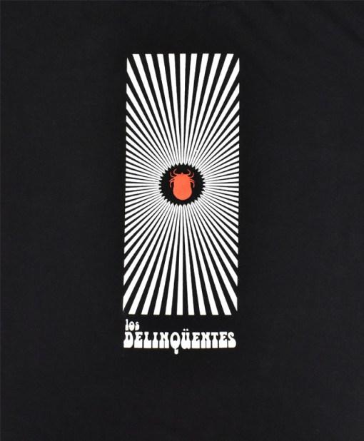 Camiseta-Hombre-Los-Delinquentes-Psicodelia-Negra-detalle