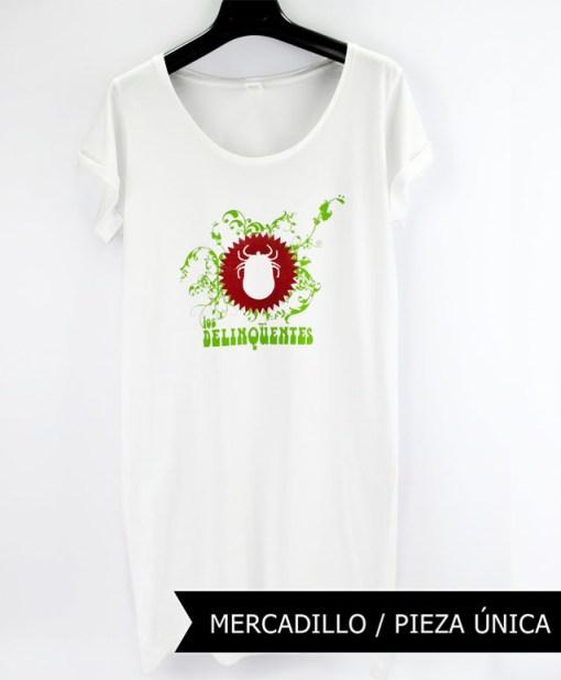Camiseta-Mujer-Los-Delinquentes-Vestido-Blanca