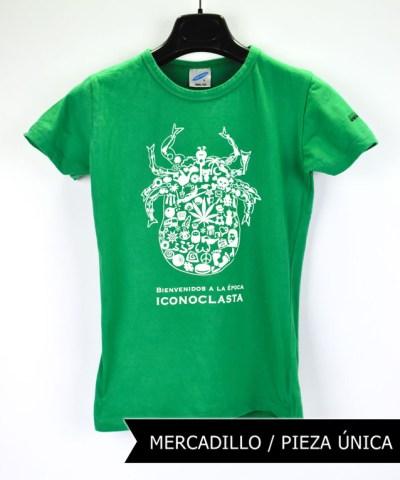Camiseta-mujer-Los-Delinquentes-Bienvenidos-verde1