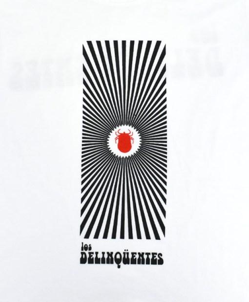 Camiseta-mujer-Los-Delinquentes-Psicodélico-Blanco-detalle