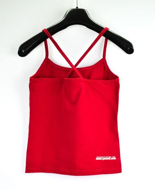 Camiseta-mujer-Los-Delinquentes-Psicodélico-Rojo-atras