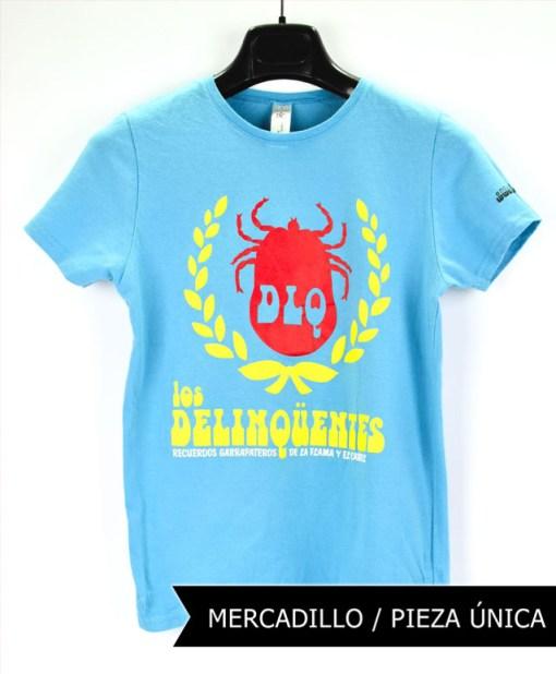 Camiseta-mujer-Los-Delinquentes-Recuerdos-Celeste