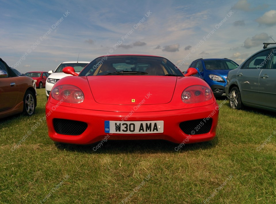 My Ferrari 360 Modena parked up at the Goodwood Festival of Speed
