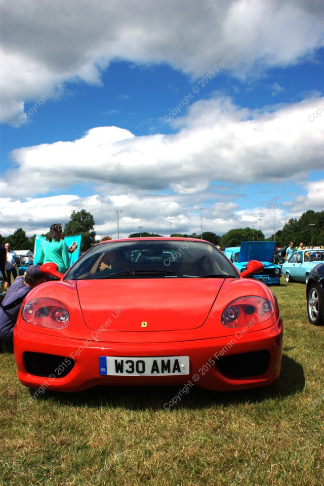My Ferrari 360 Modena at the Uxbridge Charity AutoShow