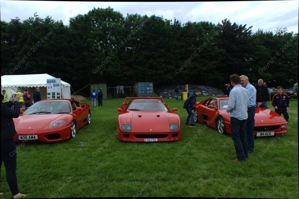 Trio of Ferrari's - my 360 Modena, an F40, and 355, at the Bath Festival of Motoring - waiting for passengers