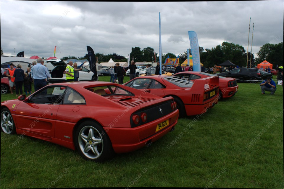 Trio of Ferrari's - a 355, an F40, and my 360 Modena, at the Bath Festival of Motoring