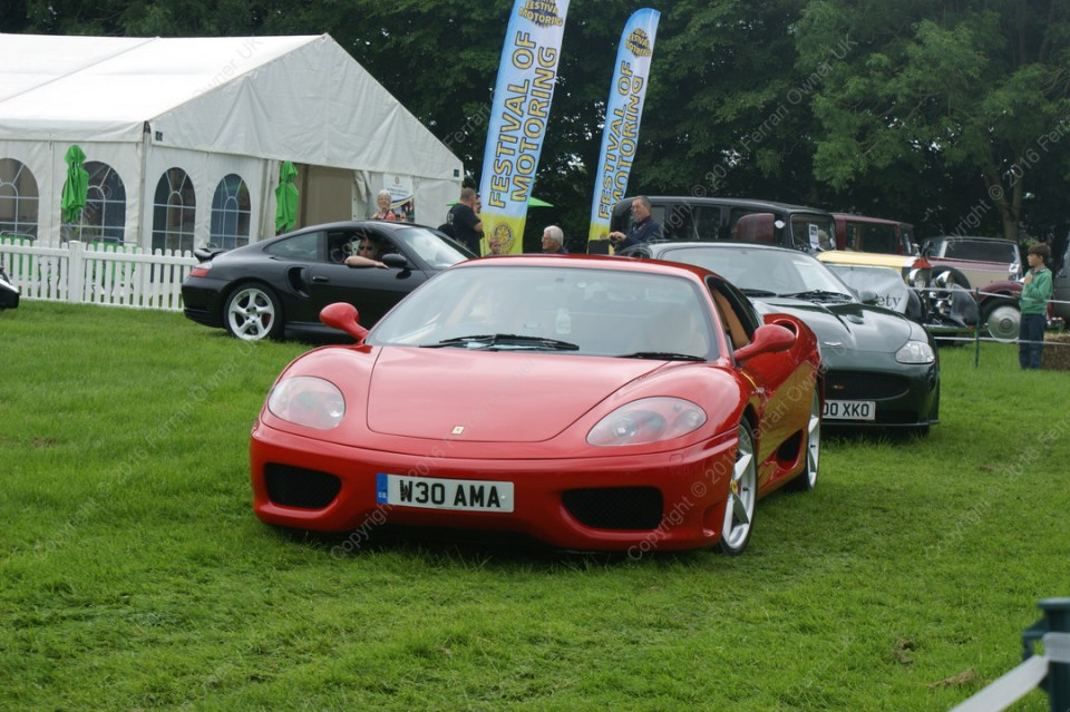 Display lap of honour in my Ferrari 360 Modena, ahead of other supercars at the Bath Festival of Motoring