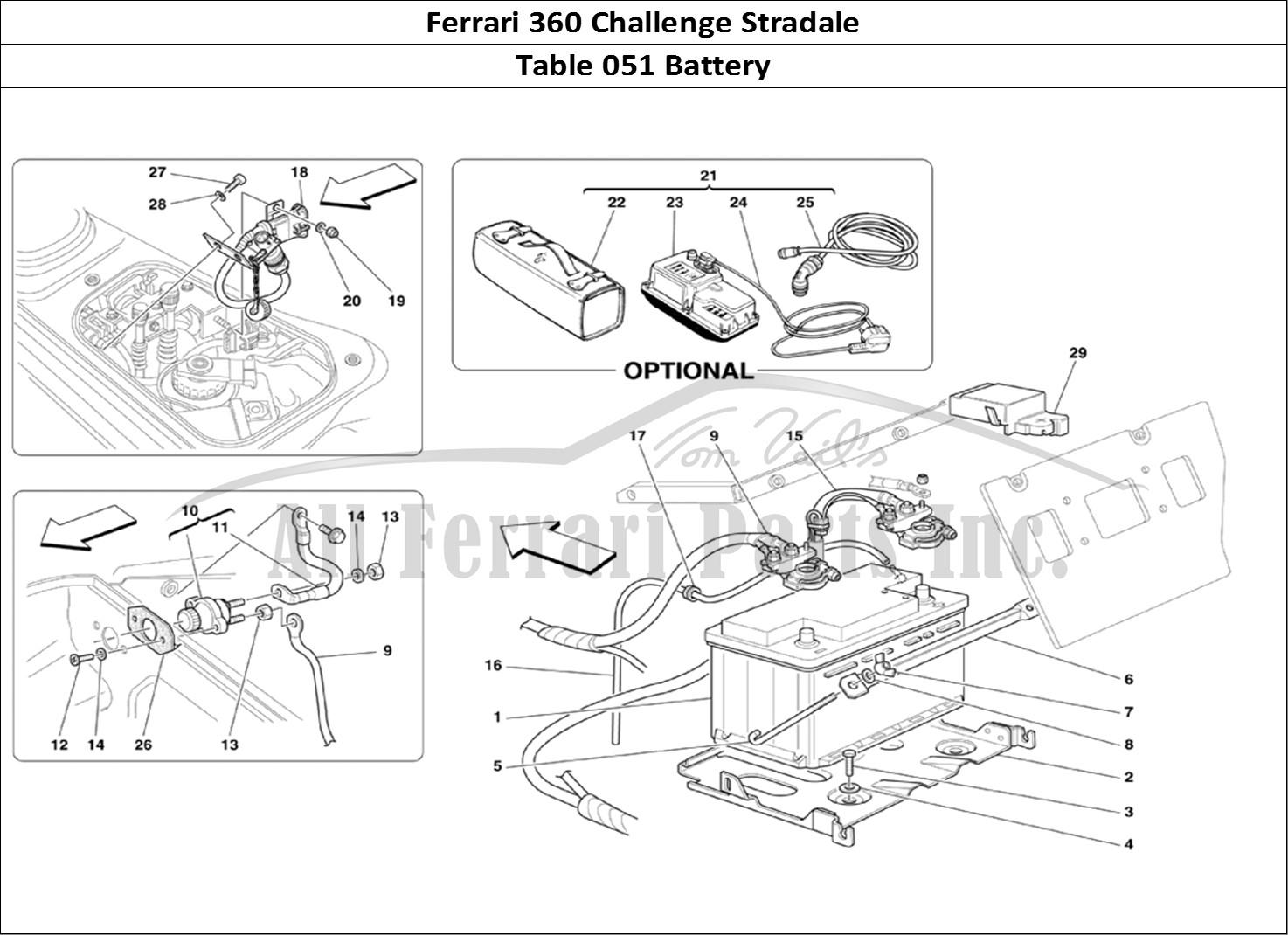 Buy Original Ferrari 360 Challenge Stradale 051 Battery