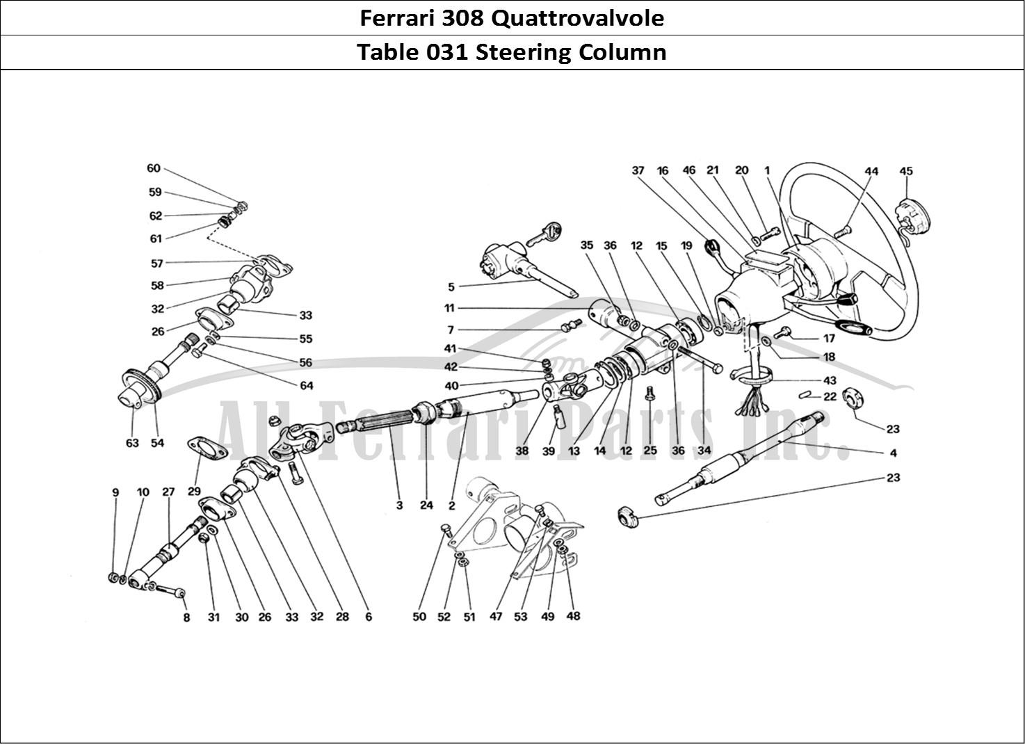 Buy Original Ferrari 308 Quattrovalvole 031 Steering