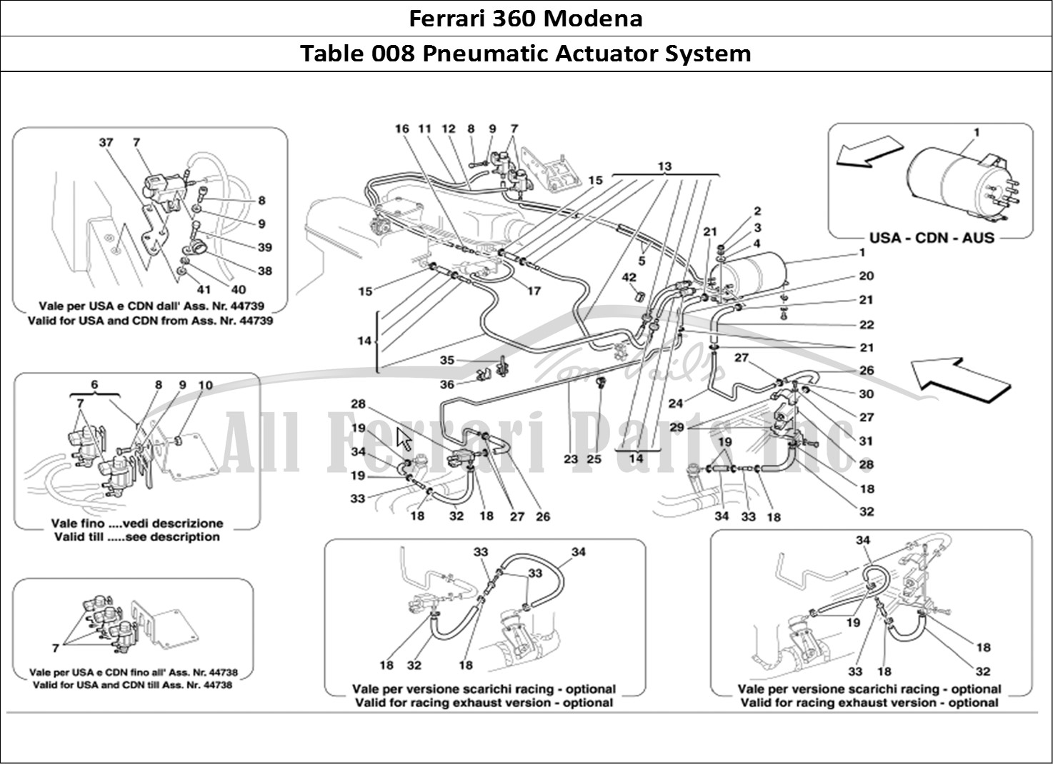 Buy Original Ferrari 360 Modena 008 Pneumatic Actuator