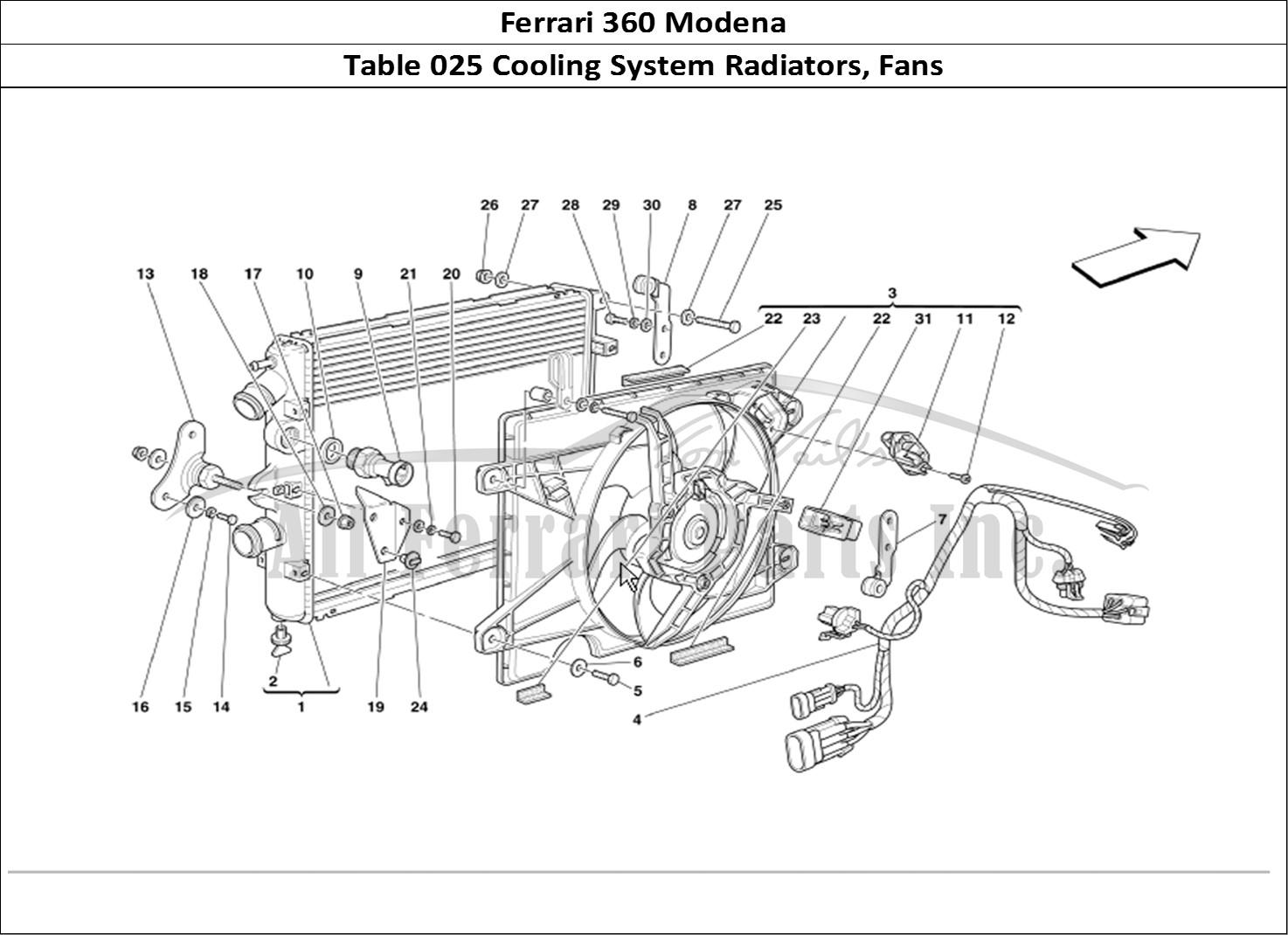 Buy Original Ferrari 360 Modena 025 Cooling System