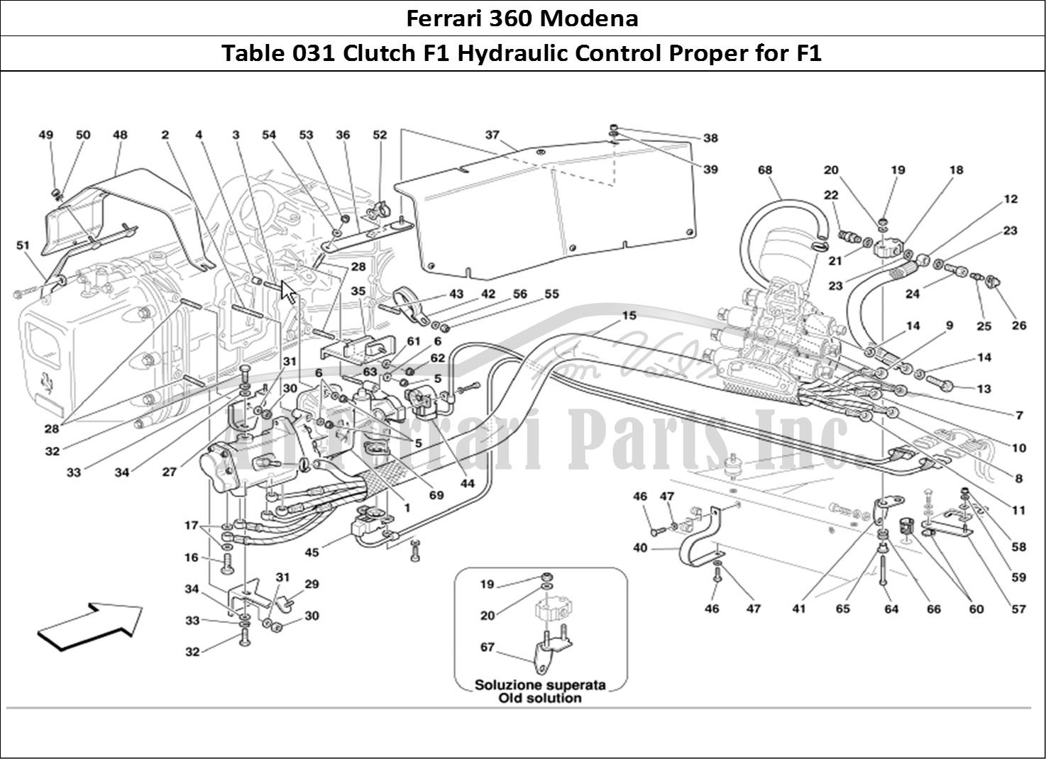 Buy Original Ferrari 360 Modena 031 Clutch F1 Hydraulic Control Proper For F1 Ferrari Parts
