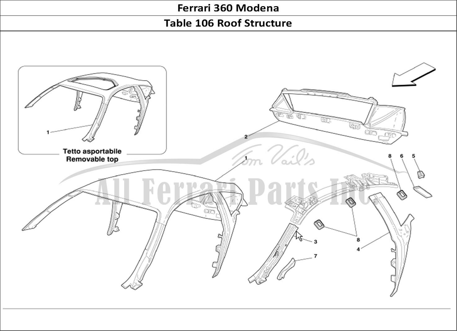 Buy Original Ferrari 360 Modena 106 Roof Structure Ferrari